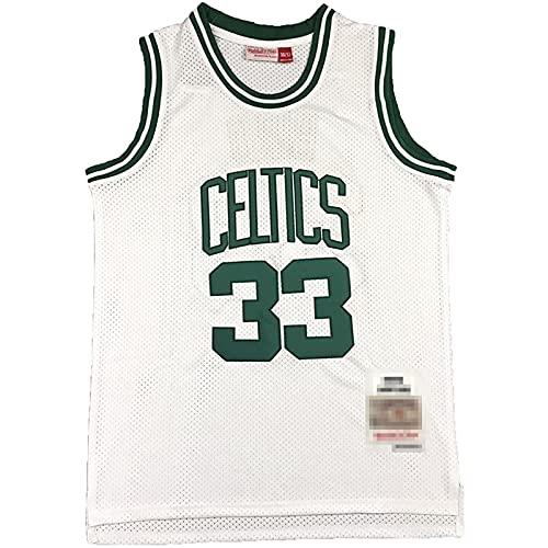 DIMOCHEN Movement Ropa Jerseys de Baloncesto para Hombres, NBA Boston Celtics 33# Larry Joe Bird, cómodo, Camiseta Uniformes Deportivos Tops(Size:XXL,Color:G1)