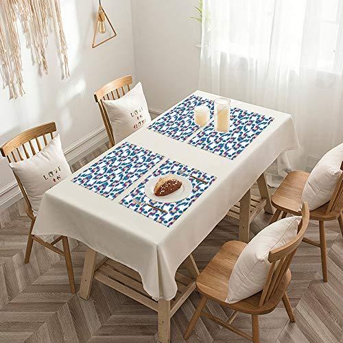 Sets de table de Rectangulaire lavables, durables, résistants à la chaleur et antidérapants,Fleur, Vintage Vibrant Blossoms Eco Bouquet Shabby Chic Art Pr,Salle à Manger de Cuisine de Fête (Lot de 4)