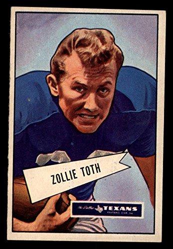 1952 Bowman Large # 58 Zollie Toth Dallas Texans (Football Card) EX Texans LSU
