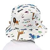 Lachi Cappello da Sole Bambini Anti UV Tesa Larga Berretto di Protezione Solare Bucket Hat Cappelli Pescatore con Sottogola