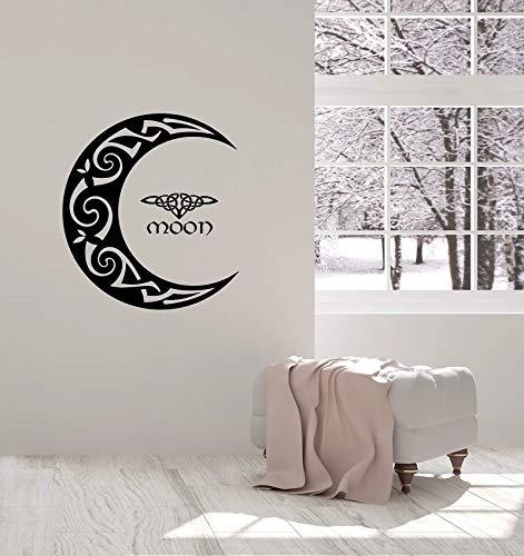Decoración de la etiqueta de la pared del vinilo de la media luna celta