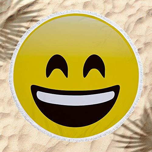 xkjymx Dekorative Emoji Strandtuch hängen Tuch Matte Wrap A 160 * 160