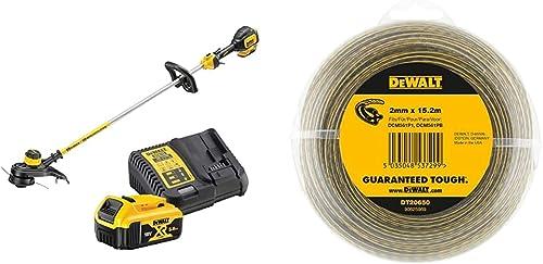 DEWALT - Coupe-Bordures Brushless XR 18V 5Ah Li-ION - DCM561P1-QW - 33 cm & XR LI-ION Câble électrique de Rechange po...