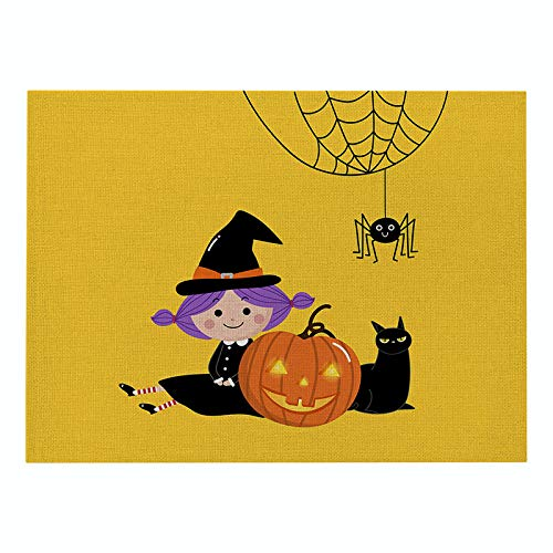MNBVCX Placemat Cartoon Cotton And Linen Table Mat Home Fabric Rectangular Placemat