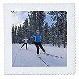 3dRose qs_91888_1 Langlauf-Ski, West Yellowstone, Montana -