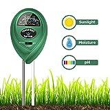 Sonkir MS01 Soil pH Meter, 3-in-1 Soil Moisture/Light/pH Tester Gardening Tool Kits for Garden, Lawn, Farm, Green