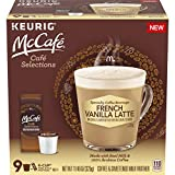 McCafé Cafe Selections French Vanilla Latte K-Cup Coffee Pods & Froth Packets (9 Pods and Pack…