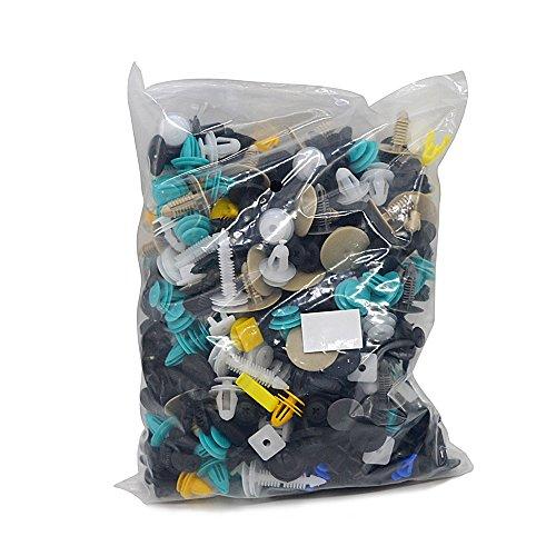 KKmoon 500 x Clips Remaches Plásticos para Coche Universales