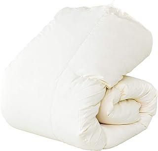 DORIS 羽毛布団 シングルロング ホワイトダックダウン93% 日本製 7年保証 400dp 抗菌防臭 CILゴールドラベル取得 なめらなか肌ざわりピーチスキン 脱気圧縮梱包COMO
