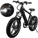 N&I Bicicleta eléctrica plegable Fat Tire 20 4' con 48 V 500 W 15 Ah Lithium-Ion Battery and Disc Brake 20 inch Wheel Mountain Electric Bike Snow Bike
