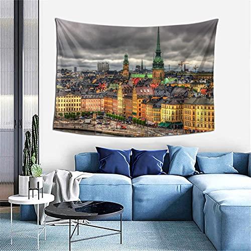 Stockholm Sverige Gobeläng – vägghängande konst heminredning sovrum dekor vardagsrum dörr gardin balkong ren rumsavdelare 152 cm x 102 cm