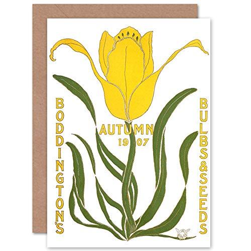 Fine Art Prints Boddingtons Lampen Zaden Herfst 1907 wenskaart met envelop binnen Premium Kwaliteit