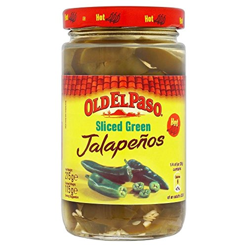 Old El Paso Hot & Tangy Geschnitten Jalapenos (215g) - Packung mit 6
