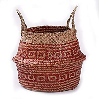 Tipo: Carrito Material: Rota Tama?o: 27 x 23 cm Decoración elegante para tu hogar. El paquete incluye: 1 x cesta