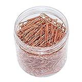 OKVGO - Clips de metal, de 50 mm, caja de plástico, clips para papel, material de papelería, para oficina, 200 unidades, color oro rosa
