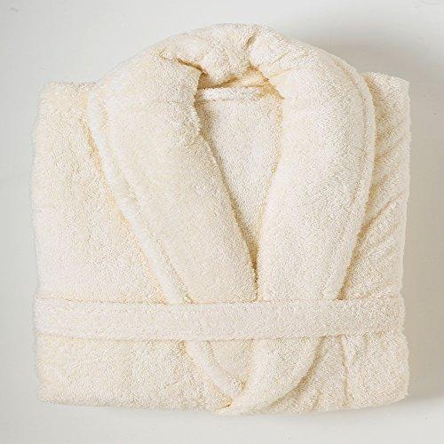 Linens Limited Peignoir de Bain, Coton égyptien, crème, L