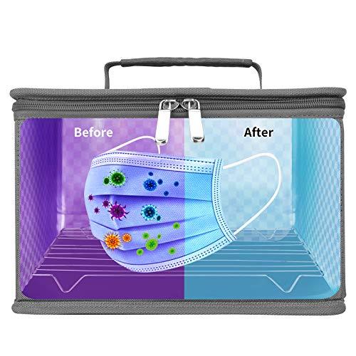 Sterilizzatore UV Borsa Sterilizzazione UVC Multiuso Portatile 12 LEDs Perline,Efficienza Pulizia Raggiunge 99% in 5 minuti,Utilizzato per Telefoni Cellulari/Biberon/Giocattoli/Strumenti Bellezza