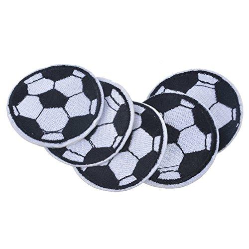 XUNHUI Fußball Aufnäher Eisen Flagge auf Applikationen nähen Rucksack Denim Jacke Shorts Basketball Aufkleber für Kleidung DIY 5 Stück