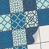 creatisto Carrelage Mural adhésif - PVC Autocollant Sticker pour Carreaux muraux I Décoration pour Cuisine et Salle de Bain - Repositionable (20x25 cm I 6 - Pièces)