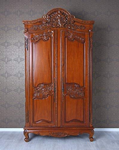 Mahagoni Schrank Schlafzimmerschrank Antik Wäscheschrank Dielenschrank Palazzo Exklusiv
