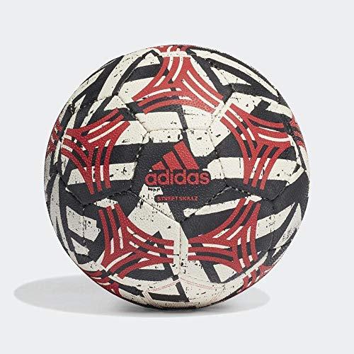 adidas Unisex – Pallone da Calcio Tango Skillz per Adulti, Bianco/Nero/scarlé, FUTS