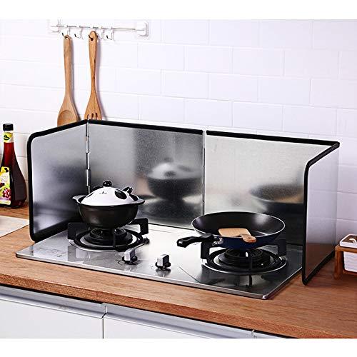 WENBING Protector Anti-Salpicaduras de Cocina, Protector de Salpicaduras de Aceite Plegable Protector de Cocina de Gas a Prueba de Salpicaduras para Accesorios de Cocina 38.1X11.8in,133×30cm