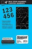Headline Sign 32431 貼り付け式ビニールナンバー ブラック 4インチ