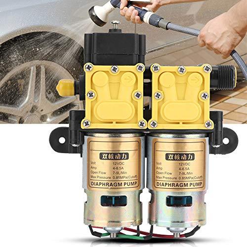 Bomba de diafragma, bomba de agua agrícola de gran potencia, bomba de diafragma eléctrica 12VDC 4-6.5A para lavadora de coches