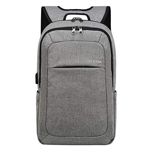 SLOTRA Damen Laptop Rucksack 15,6 Zoll Slim Anti Diebstahl Rcuksack Herren für Business Schule Arbeit