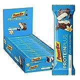 PowerBar Protein Plus Riegel mit nur 107 Kcal - Low Sugar Eiweissriegel, Fitnessriegel mit Ballaststoffen - Vanilla (30 x 35g)