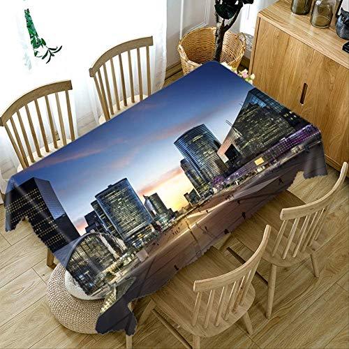 LJJJZS Épaissir Nappe 3D Ville Street View Rectangulaire Table Tissu Cuisine Table Cover pour Pique-Nique Partie Home Decor 152 * 259 cm