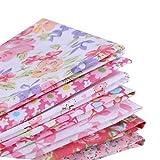 7 Piezas/Set la Tela de algodón para Coser Quilting Patchwork Textiles para el hogar 7 Piezas Flor de algodón Rosa Serie Tilda muñeca de Trapo Cuerpo