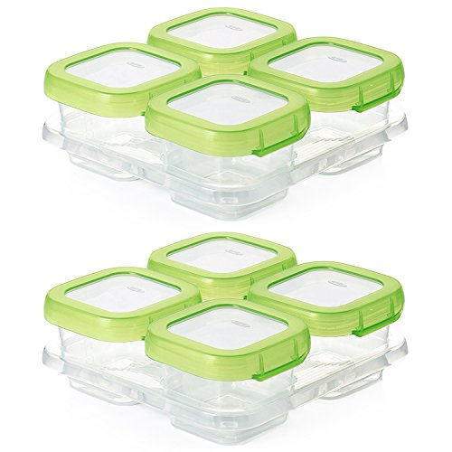 OXO Tot Baby Blocks Freezer Storage Containers 4-Ounce Set of 8 Clear