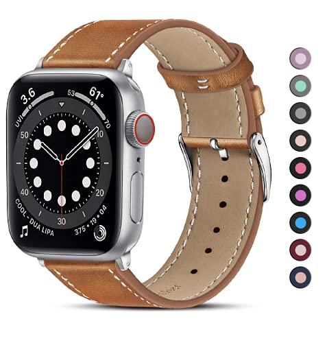 MARGE PLUS Piel auténtica Correa Banda de Reloj Inteligente iWatch de Repuesto de Tour Pulsera con Adaptador Cierre para Apple Reloj Apple Watch Serie 2Serie 1,38mm