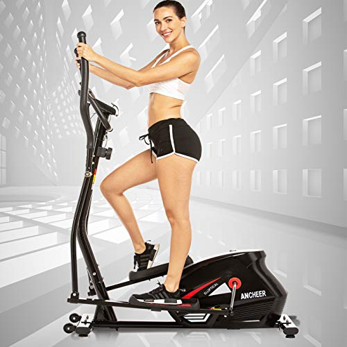 ANCHEER Elliptical Machine Quiet & Smooth Magnetic Elliptical Cross Trainer Machine with...