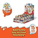 Kinder Joy Eggs, Holiday Edition, 15 Count Individually Wrapped Candy, 21 Oz