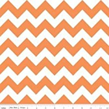 Cotton Riley Blake Chevron Zigzag Orange White Striped Cotton Fabric Print by The Yard (C320-60)