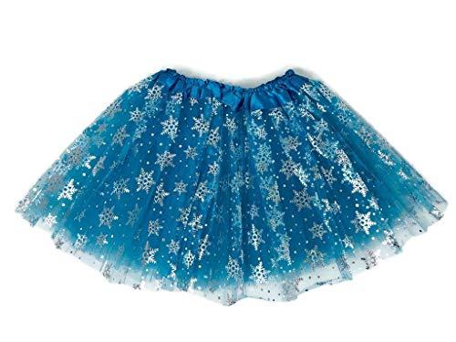 Rush Dance Ballerina Girls Dress-Up Princess Fairy Costume Recital Tutu (Kids 3-8 Years, Snowflake (Elsa))