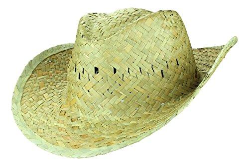 2Store24 Sonnenhut Herren Strohhut Paglietta Westernhut Sommerhut Western Cowboy Hut