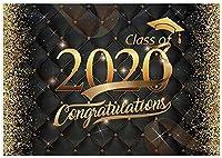 2020年の新しい7x5ft卒業パーティーの背景クラス学士号キャップリボンゴールドグリッター写真背景卒業祝いの装飾写真ブース小道具ケーキテーブルバナー