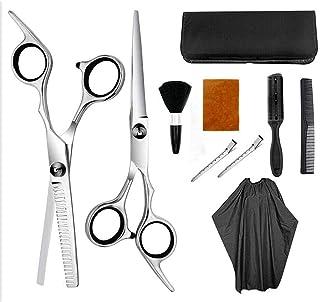 Barber scissors 10PCS Professional Hair Scissors Set Hair Cutting Scissors Shears Barber Thinning Set Kit- Family Hair Cut...