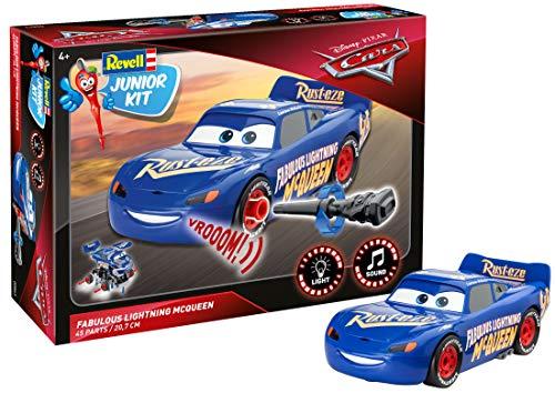 Revell Junior Kit 00863 Disney Cars 3, mit Licht & Motorengeräuschen 4 The Fabulous Lightning McQueen Spielzeug, bunt, 20,7 cm