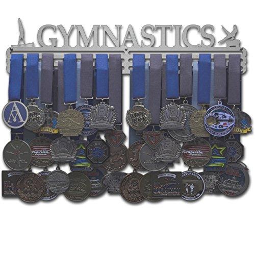 """Allied Medaillenbügel Gymnastik - männlich oder weiblich - Verschiedene Größen erhältlich, Male Figure - 18\"""" Wide with 3 Hang Bars"""