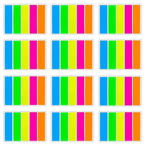 Faburo 2200 Stücke Haftstreifen Haftmarker Haftnotizen Klebezettel Page Marker Kleine Zettel für Seiten Markierung 5 Farben