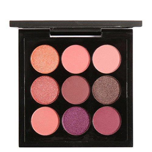 Coloré(TM) Palettes de maquillage 9 Couleurs Palette de Fard à Paupière Waterproof Longue Durée Poudre Palette Maquillage Yeux Matte (A)