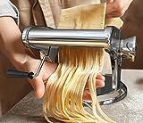 bonVIVO® Pasta Mia (NEUES DESIGN) Nudelmaschine aus Edelstahl in Chrom-Look, für den italienischen Pasta-Genuss aus der eigenen Küche, mit rutschfesten Ansaugsockel - 5