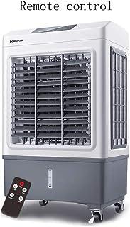 Ventilador de aire acondicionado móvil, pequeño Ventilador de enfriamiento con Control Remoto, Aire Acondicionado Industrial Comercial, hogar 370 * 330 * 760 mm Gris