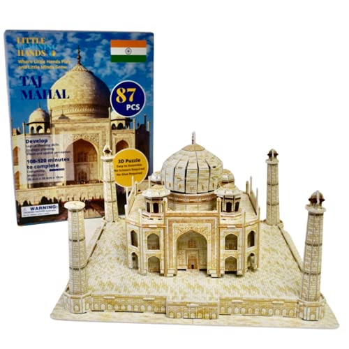 Little Learning Hands 3D Puzzles for Adults and Kids | India Taj Mahal 3D Puzzle | India...
