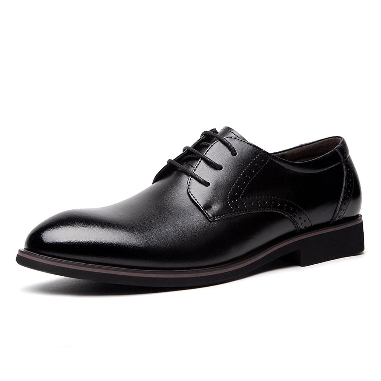 [WEWIN] ビジネスシューズ メンズ 本革 大きいサイズ 紳士靴 ウォーキング 革靴 カジュアル レースアップ ファッション 蒸れない 柔らかい 防滑