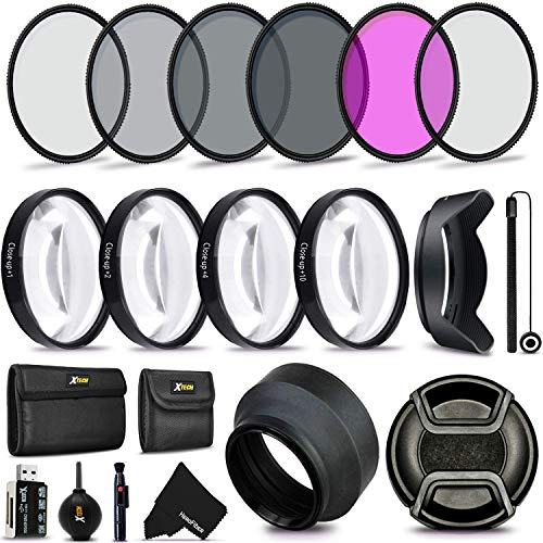 Tulip Lens Hood Lens Pen Dust Blower 58mm UV CPL ND 3pc Cleaning Kit Telephoto and Wide Angle Lens Flash Soft-Light Cover